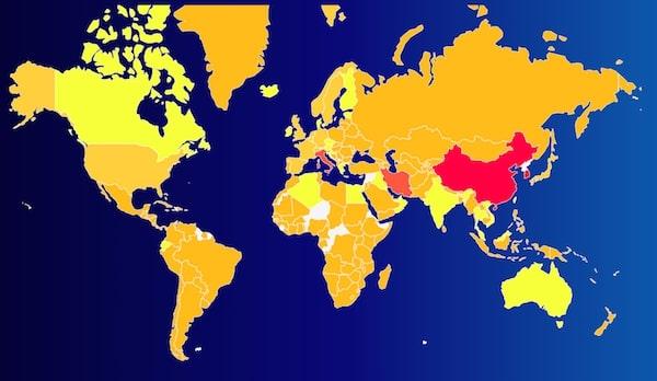 Карта распространения коронавируса COVID-19
